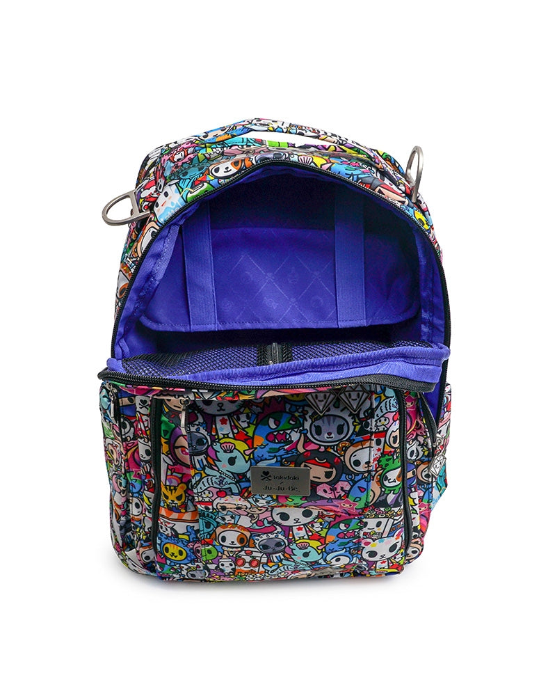 tokidoki x Ju-Ju-Be Be Right Back Backpack Iconic 2.0 unzipped inside
