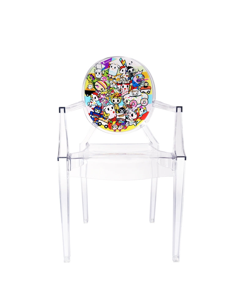 tokidoki x Kartell Lou Lou Ghost Chair front