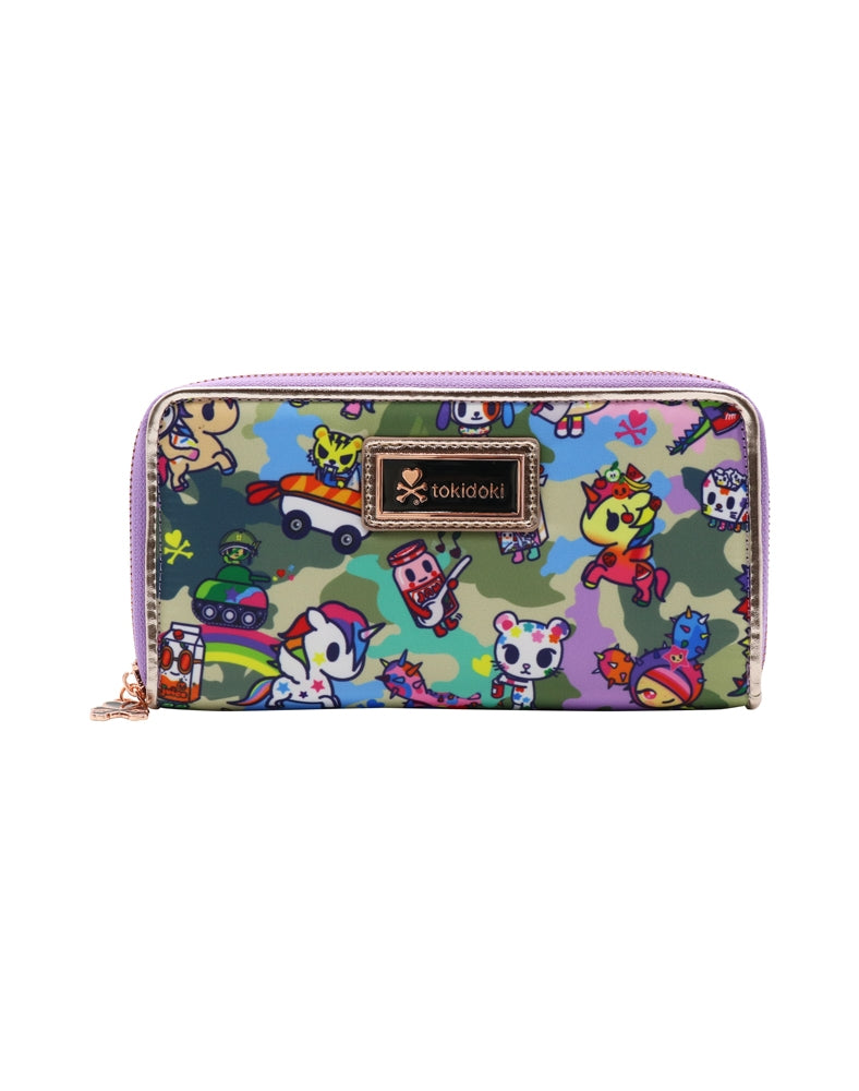 Camo Kawaii Long Wallet front