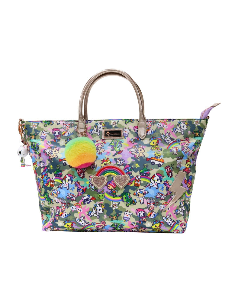 Camo Kawaii Carry All Tote front