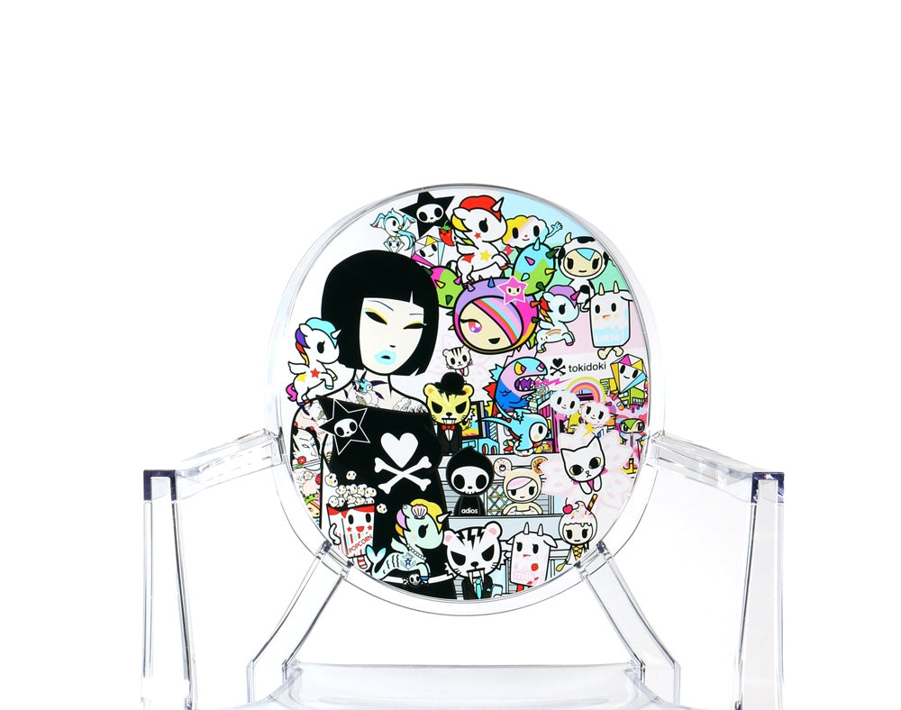 tokidoki x Kartell Louis Ghost Chair close up