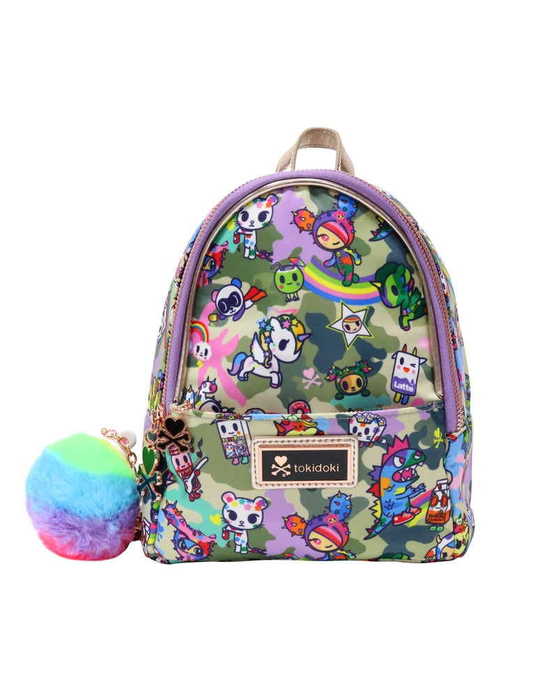 Camo Kawaii Mini Backpack front