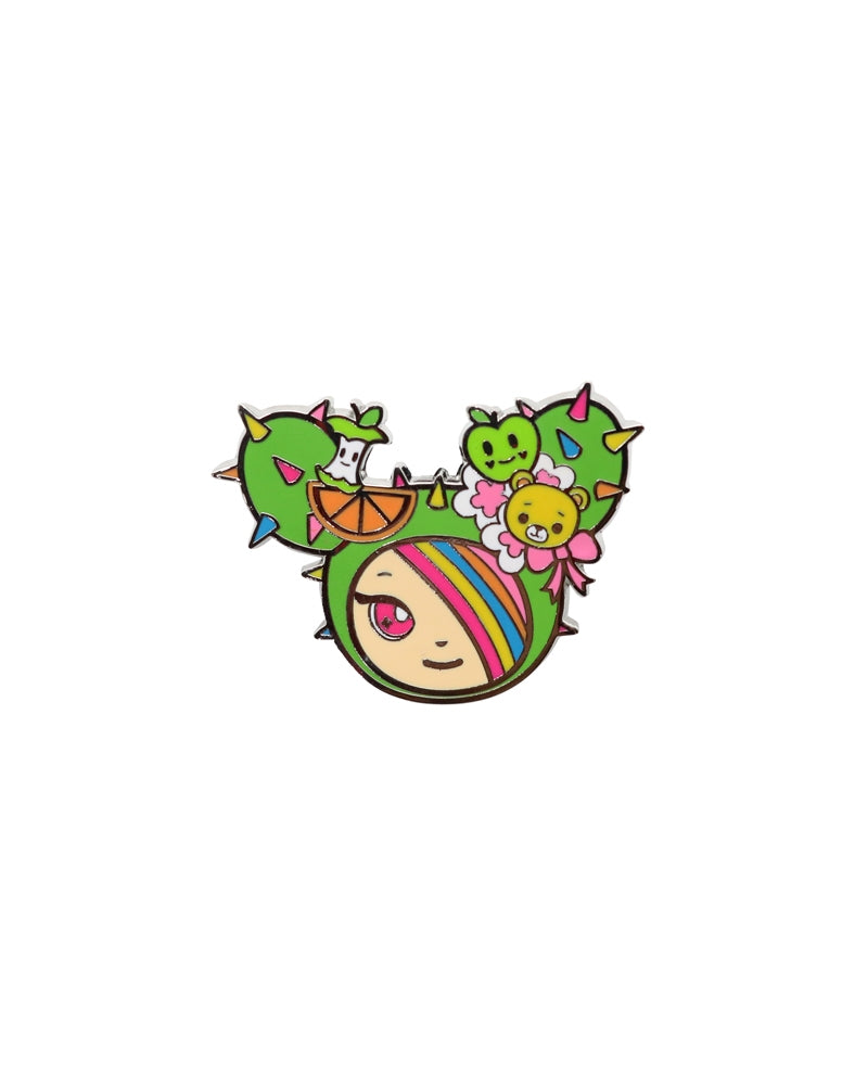 Kawaii Metropolis Enamel Pin 3-Pack Sandy Close-up