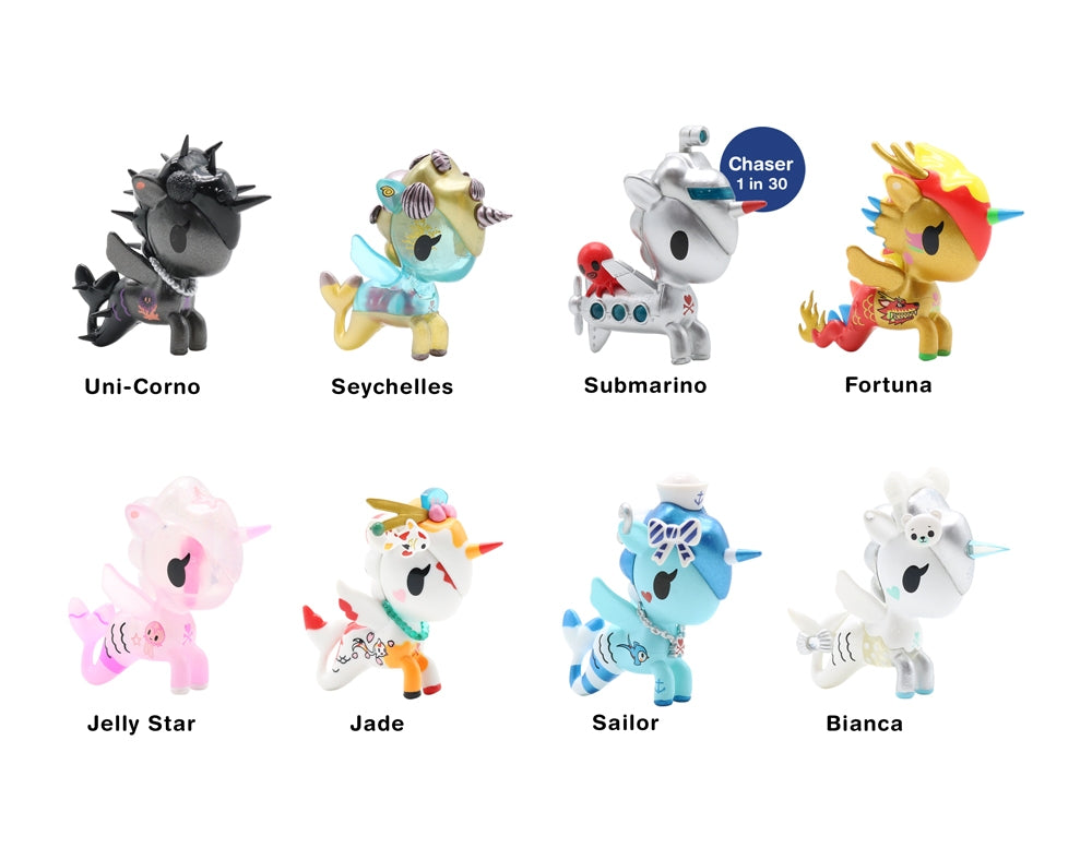 Mermicorno Blind Box Series 3 figures with names
