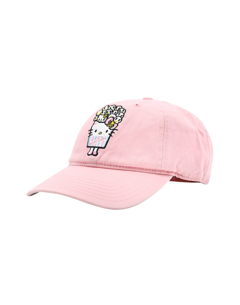 tokidoki x Hello Kitty Popcorn Kitty Women's Adjustable Dad Hat front side