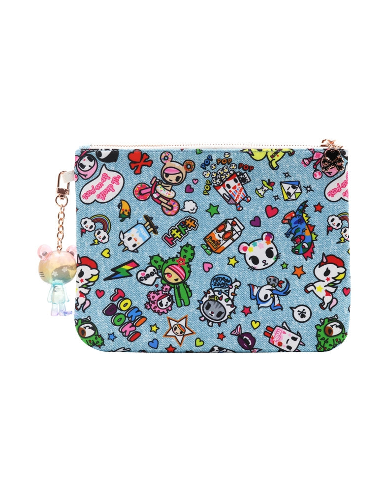 Denim Daze Zip Pouch back