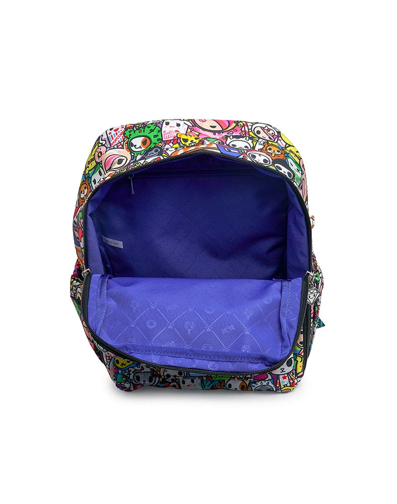tokidoki x Ju-Ju-Be MiniBe Iconic 2.0 unzipped open