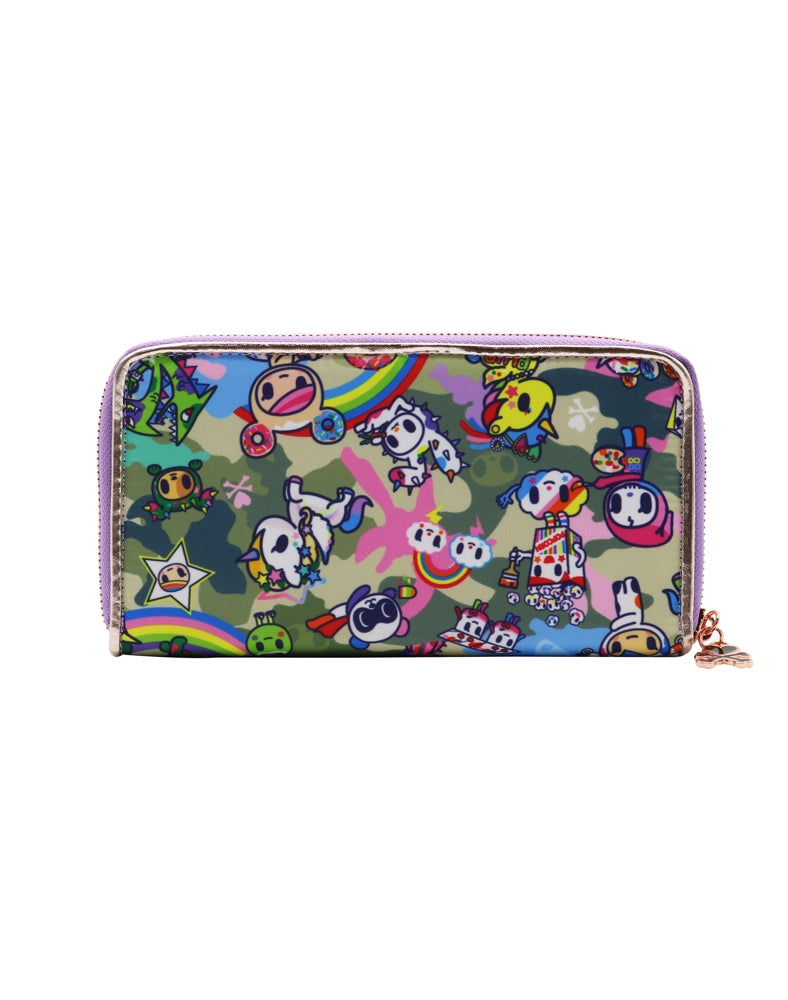 Camo Kawaii Long Wallet back