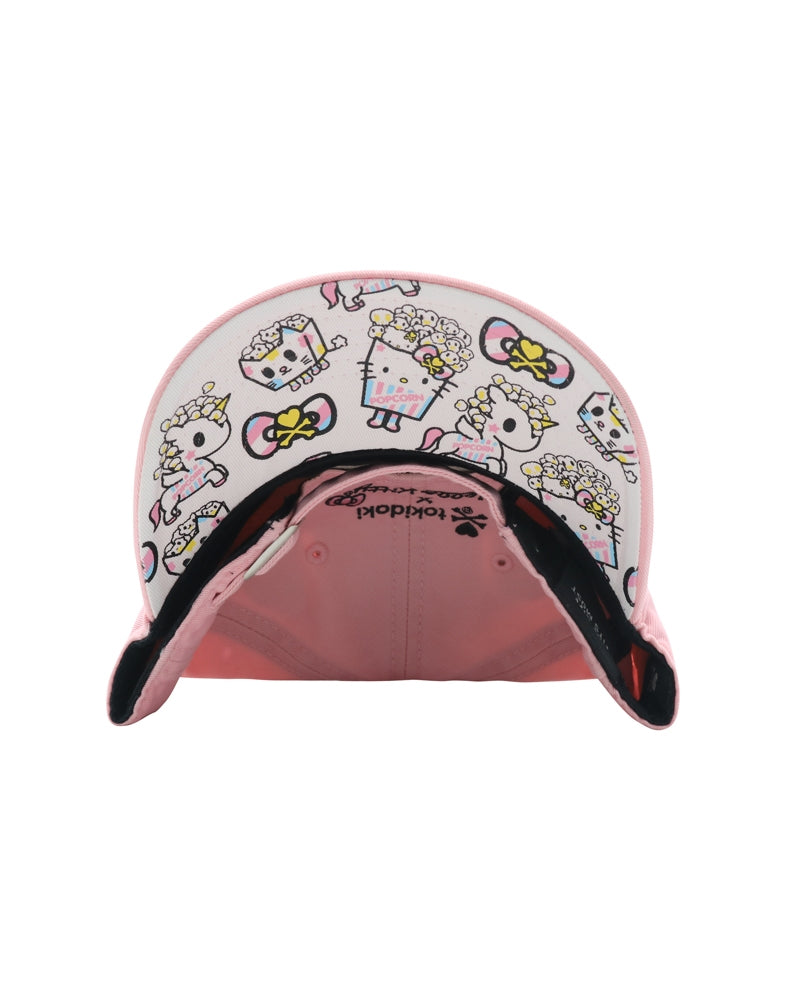 tokidoki x Hello Kitty Popcorn Kitty Women's Adjustable Dad Hat brim underside