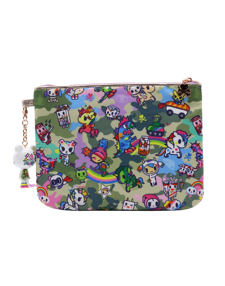 Camo Kawaii Zip Pouch back