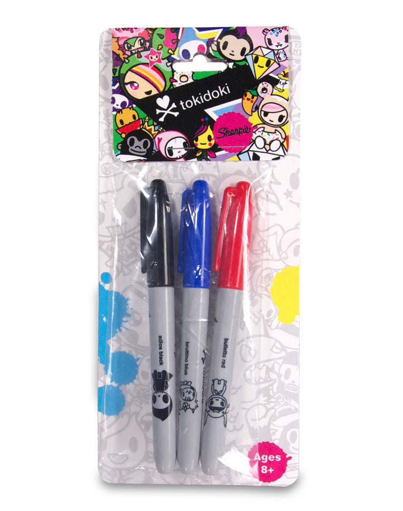 DIY Markers Set 01 - (Primary) in plastic, front