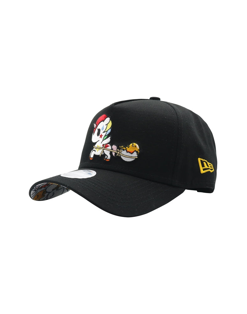 tokidoki x gudetama Ride on Gudetama Women's Snapback front side