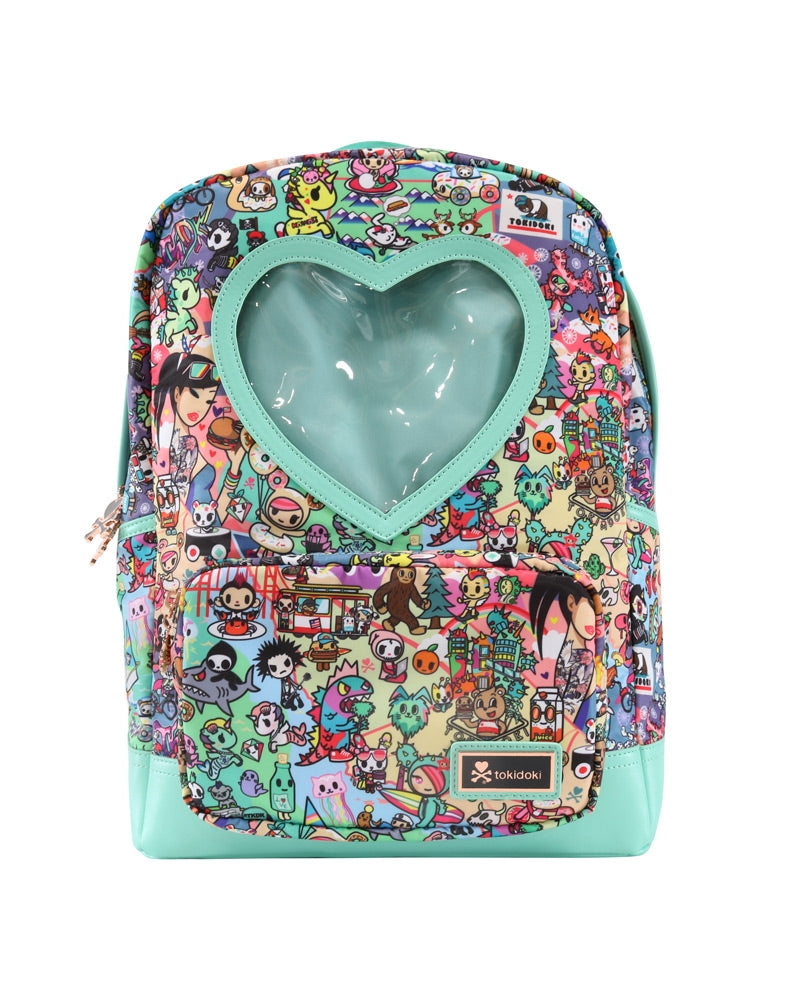 California Dreamin' Heart Window Backpack front