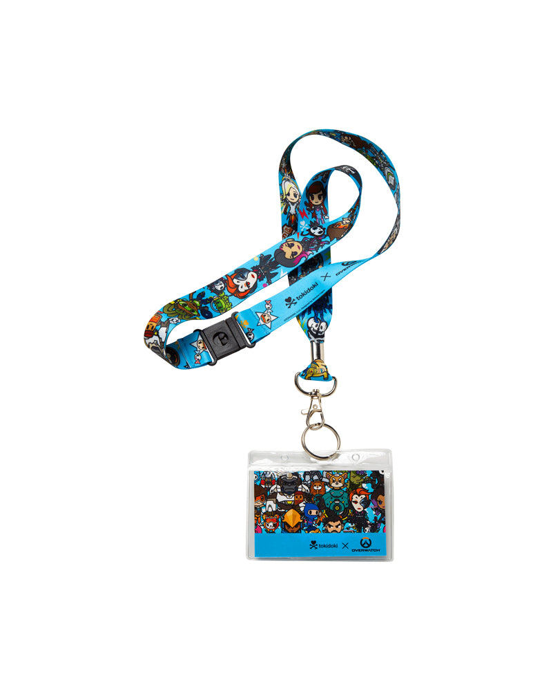 tokidoki x Overwatch Heroes Lanyard (Blue) Close Up