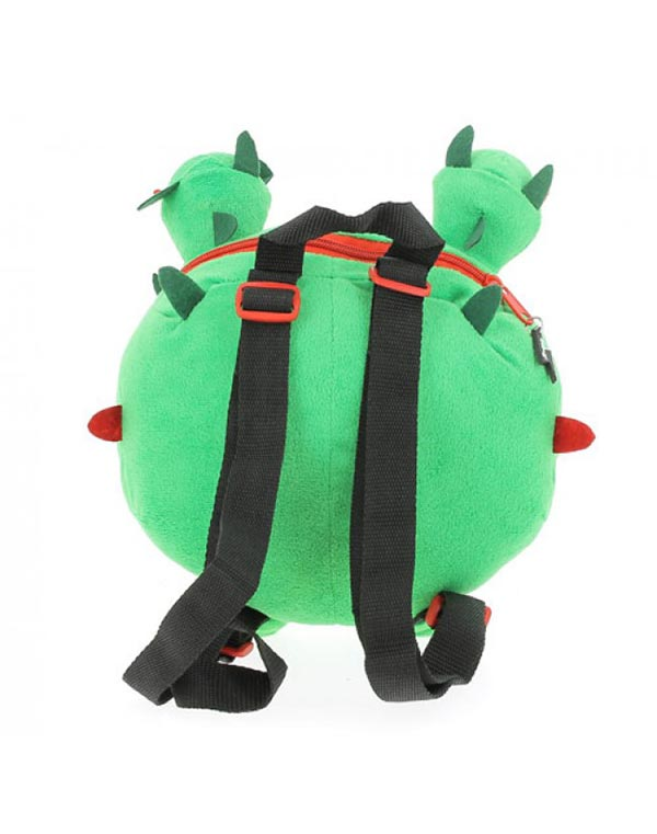 Cactus Dog Plush Backpack Back