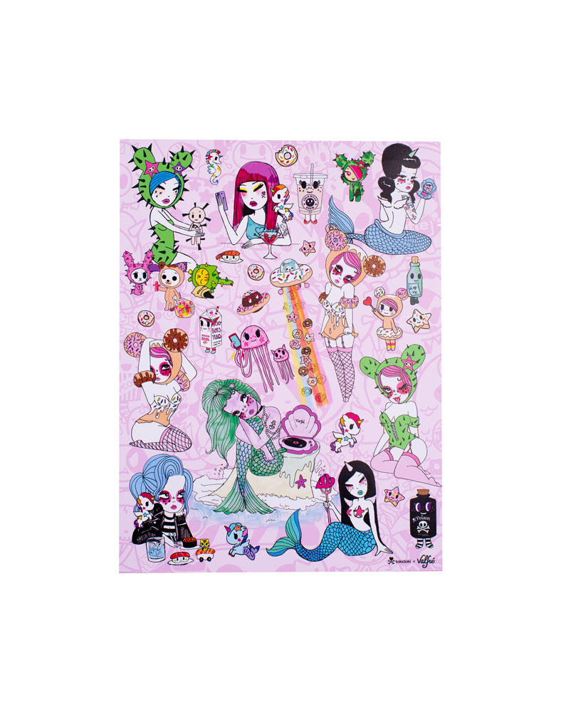 tokidoki x Valfré Limited Edition Signed Print above shot