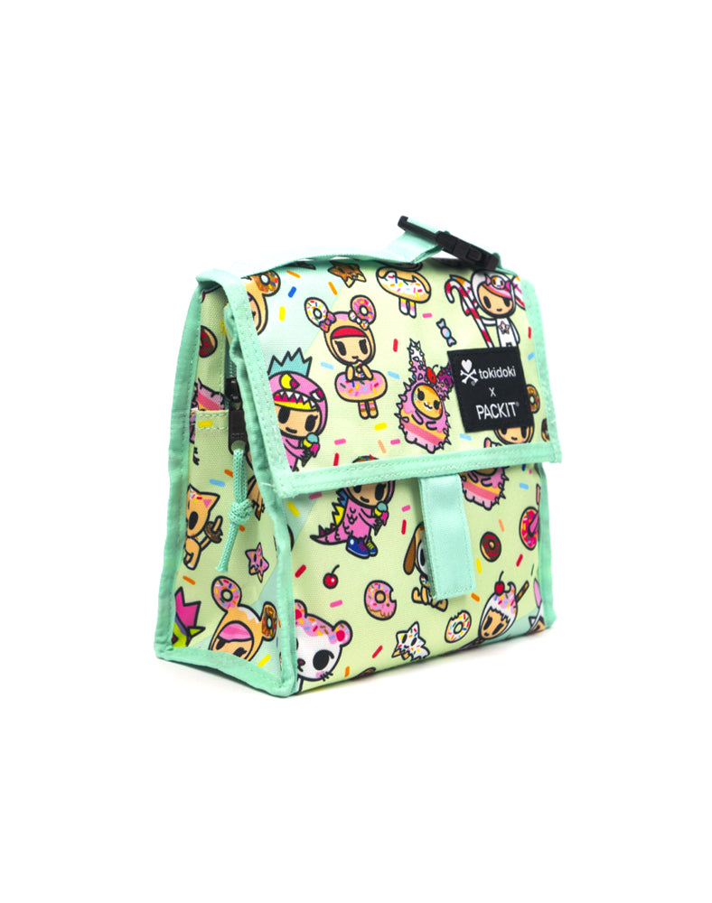 tokidoki x PACKIT Sparkle Donutella Mini Cooler Side