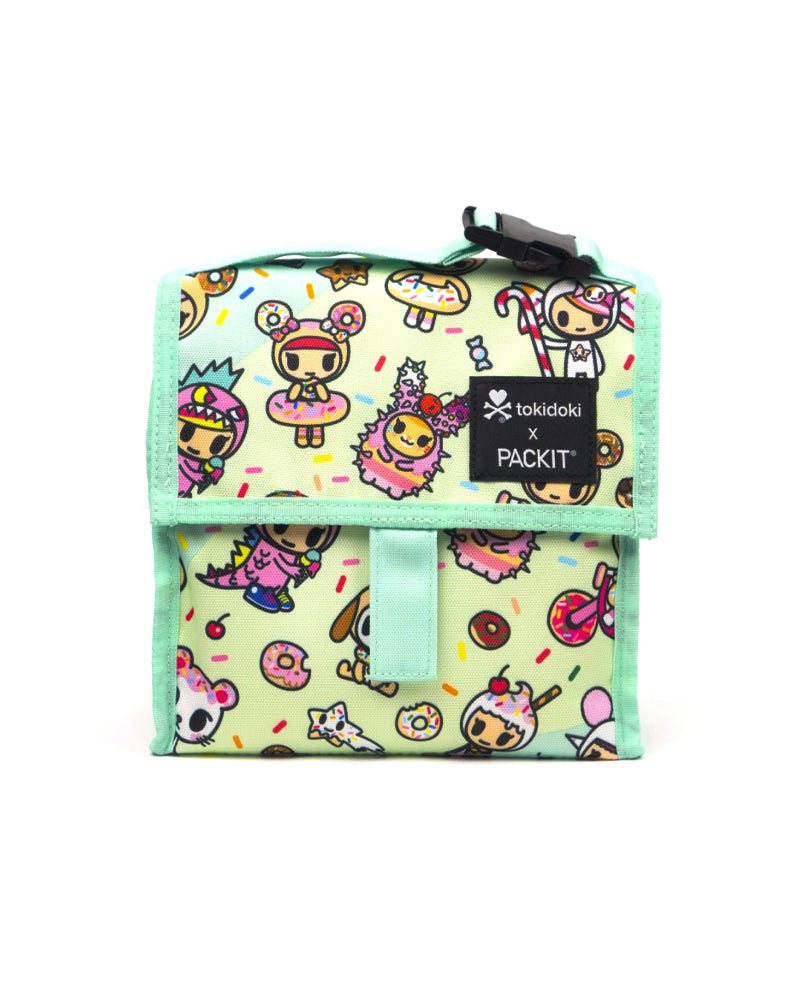 tokidoki x PACKIT Sparkle Donutella Mini Cooler Front