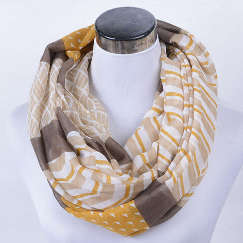 Gold and Grey Infinity Scarf - SMPL Goods