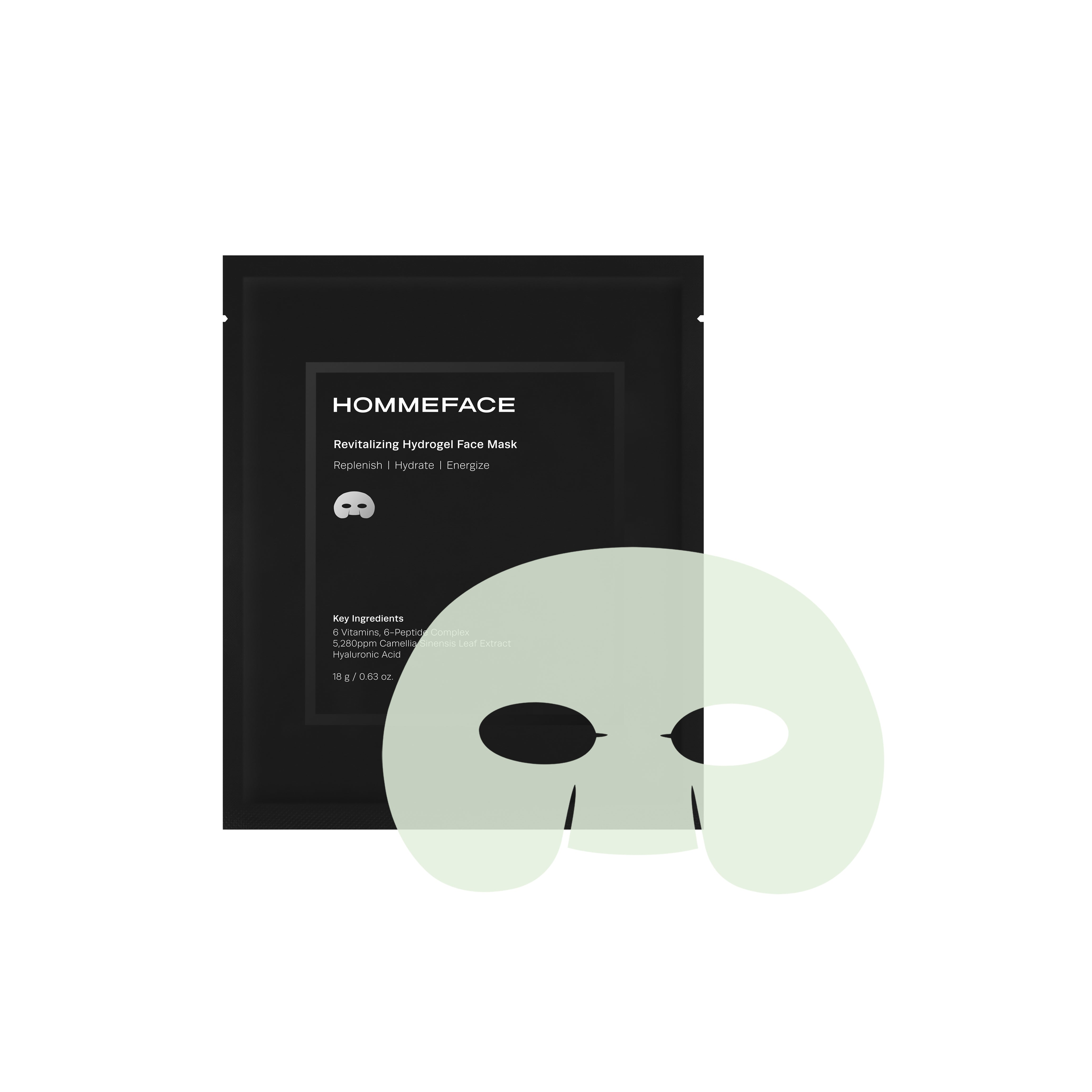 Revitalizing Hydrogel Face Mask Set (5ct)