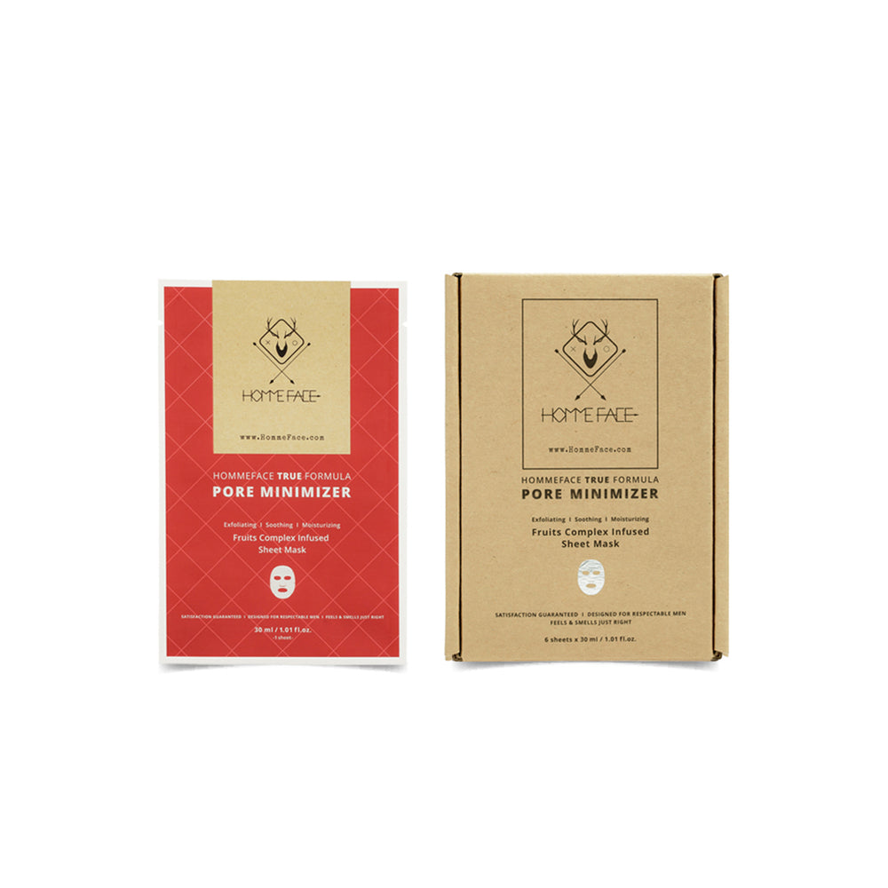 HOMMEFACE Korean sheet mask set deep cleans and minimizes pores and gently exfoliates skin. Made with plant-based extracts and without harsh chemicals. Gifts for him this holiday season. Black Friday Cyber Monday deals.
