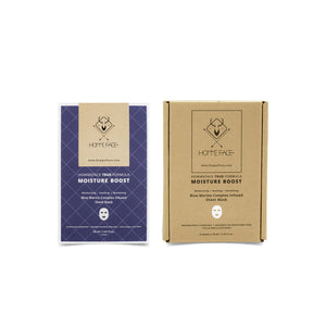 HOMMEFACE Moisture Boost Sheet Masks for men provides intense hydration for dry, parched, flaky skin. Made with natural extracts to nourish, hydrate, and revitalizes skin. Gift him this holiday season with HF.