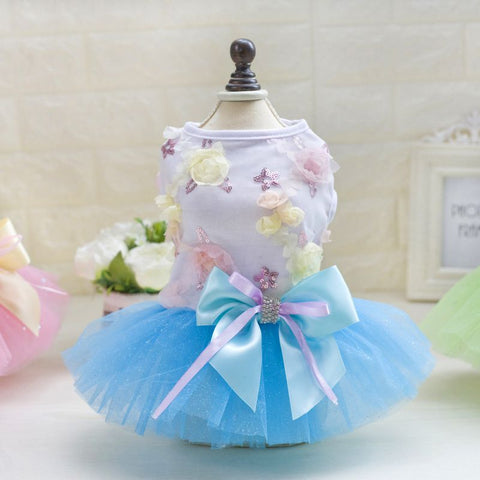 Summer Dog Dress Pet Dog Clothes for Small Dog Wedding Dress Skirt Puppy Clothing Spring Pet Clothes Chihuahua Yorkie