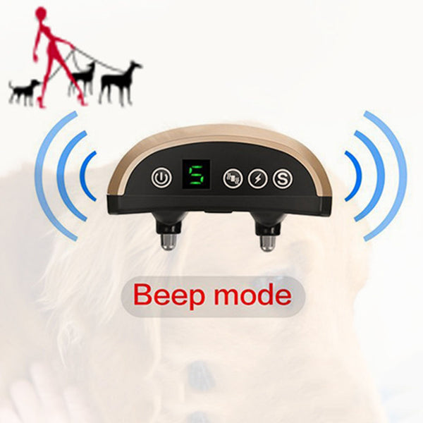 Electric Shock Anti Barking Collar, Rechargeable, Rainproof, with Shock/Vibration/Beep Modes for Small Medium Large Breed Dogs