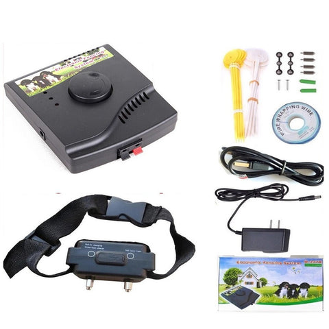 Waterproof Rechargeable Electronic Dog Fence Dog Training Collars Shock Collar Pet Containment System with Electric Transmitter