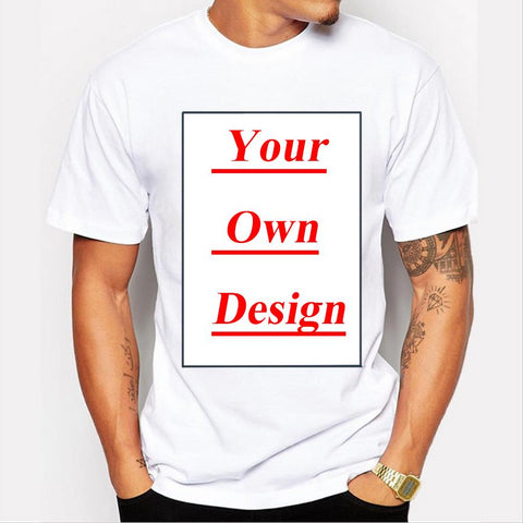 Customized Men's T shirt Print Your Own Design High Quality