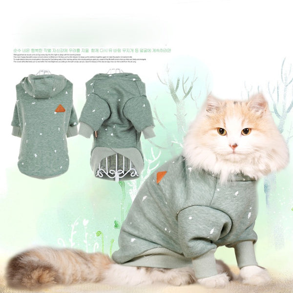 Hoopet Pet Dog Cat Clothes Cute Hoodie Hooded Sweater Fall Winter Clothes Casual Warm Dog Coat Fashion Pet Jacket