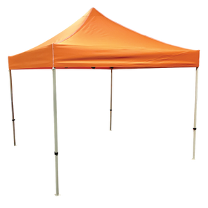 Plain 10x10 EZ pop up Tent Canopy Orange