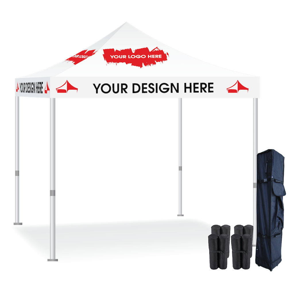 10x10 Pop Up Tent Custom Printed