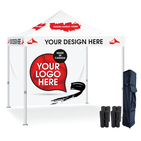 Custom Dye Sublimation Pop Up Display Tent with back wall