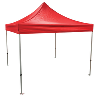 Plain 10x10 EZ pop up Tent Canopy Red