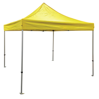 Plain 10x10 EZ pop up Tent Canopy Yellow