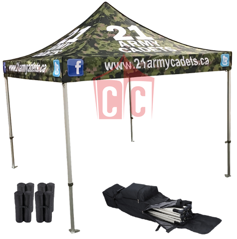 Professional 10x10 Custom Printed Canopy Tent Package