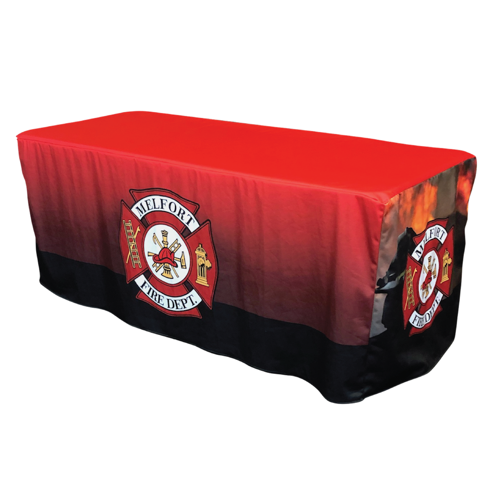 Custom Printed Fitted Table Cover - Melfort Fire Department