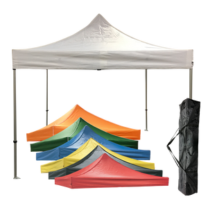 10x10 Professional Tent Package solid colour canopy