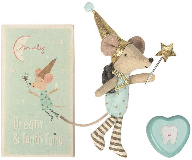 Tooth fairy brother mouse in the box