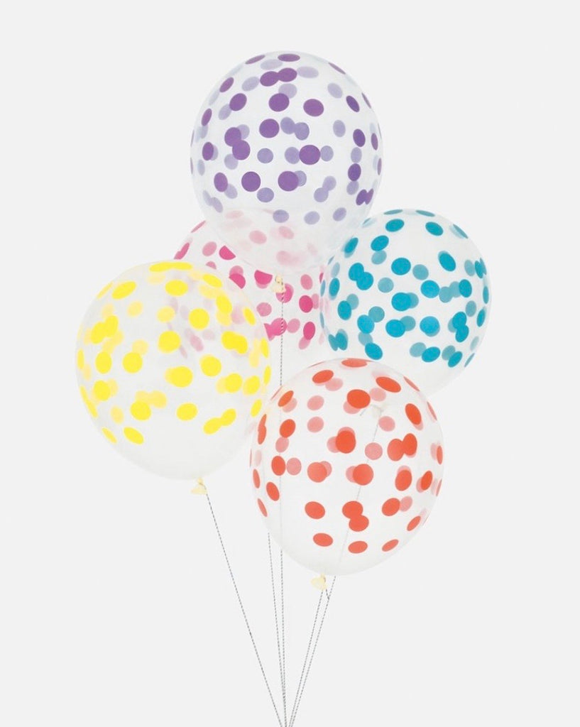 Lot de 5 ballons multicolores.