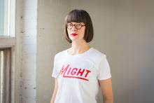 Might Logo Tee on White
