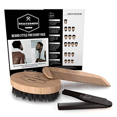 Grooming Beard Styling Kit by Shavermen (Perfect for Short, Medium and Longer Beards) - Shavermen