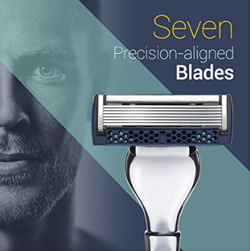ShavermenPro Classic - Premier Precision Aligned, Seven Blade Design with Pivoting Head - Styling Template Tool