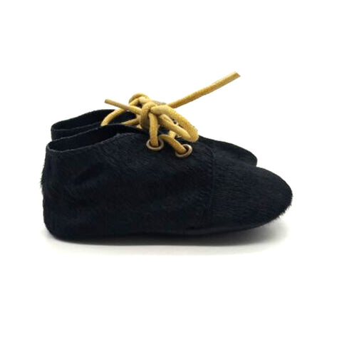 Black baby oxfords