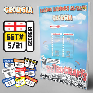 Georgia Football League 2021/22 Season League Ladders Set#5/21