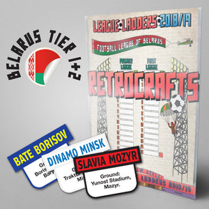 Belarus Football League Premier League and First League 2018/2019 Season League Ladders - NEW!