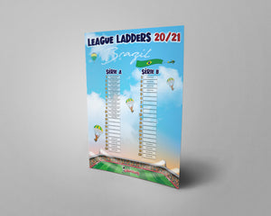 Brazil Football League Série A  and Série B Tiers 1 & 2 2020 Season League Ladders