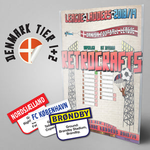 Denmark Football League Superliga and 1st Division Tiers 1-2 2018/2019 Season League Ladders