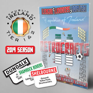Republic of Ireland Football League Premier and First Divisions Tiers 1-2 2019 Season League Ladders